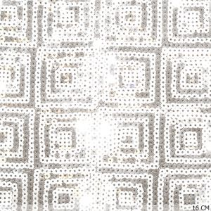 Sequins Square Silver