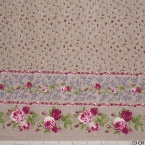 Tricot Two Side Border Beige