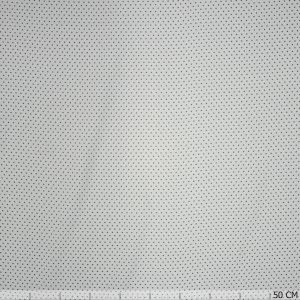 Stippen viscose wit