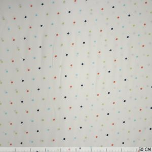 Viscose stippen wit