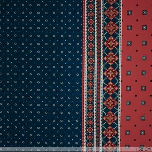 Crepe border red