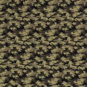 Cotton tricot Small Camouflage