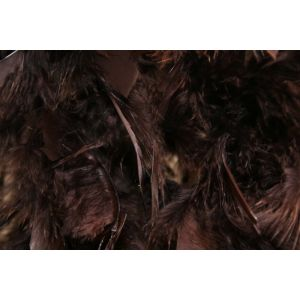 Boa 2 meters feathers brown