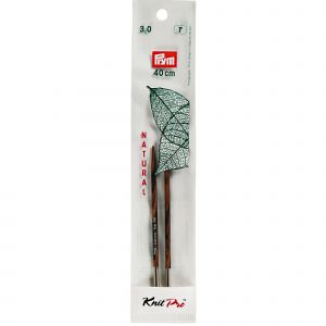 Knitting pin points short NATURAL 10 cm 3.00 mm multi col