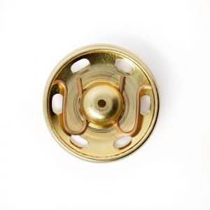 Sew-On Snap Fasteners brass gold col 21 mm