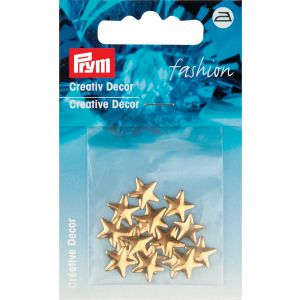 Creative Decor star for ironing on 10 mm gold col
