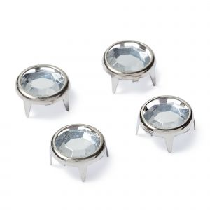 Creative Decor round pinning 9 mm silver col