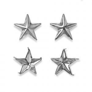 Creative Decor star pinning 15 mm silver col