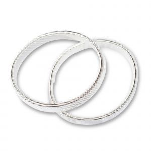 Arm bands stretch silver col