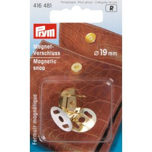 Magnetic snap 19 mm gold col