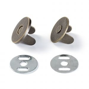 Magnetic snap 19 mm antique brass
