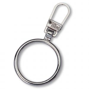Fashion Zipper pullers Ring metal silver col