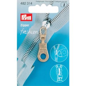 Fashion Zipper pullers Eyelet metal gold col