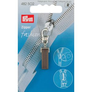 Fashion Zipper pullers Pure plastic/metal dark brown