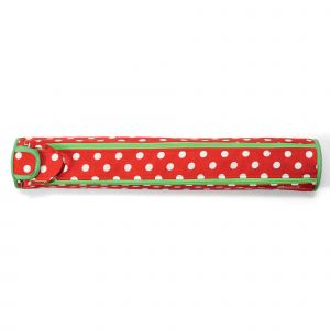 Knitting pin roll Polka Dots Red/White