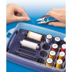 Click box with sorting insert for sewing threads