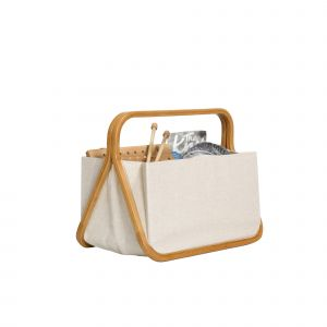 Tas Store & Travel canvas - bamboe M natuur