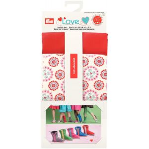 Prym Love Fabric mix for boots red
