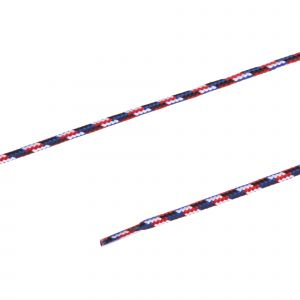 Ronde veters outdoor5mm120cm bl/rood/wit