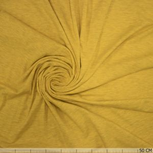 Cotton Melange Tricot Lemon Yellow