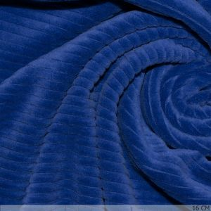 Knitted Corduroy Cobalt