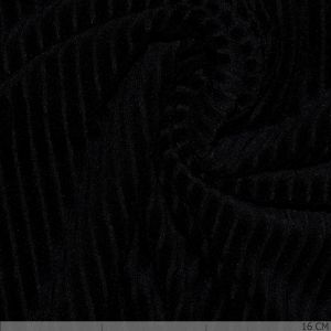 Knitted Corduroy Black