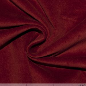 Stretch Velvet  Deep Red