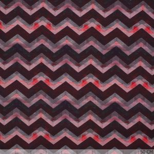 Cotton Jersey Zig-Zag Deep Red