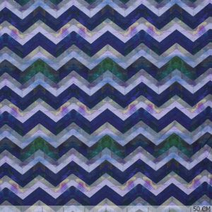 Cotton Jersey Zig-Zag Purple