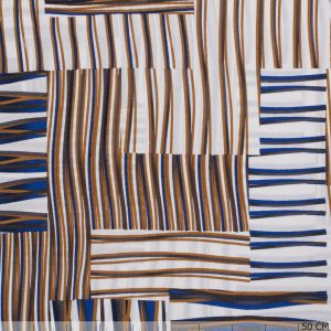 Viscose Print Lines Royal-Beige