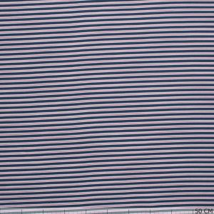 Cotton Tricot Stripes Red/Blue