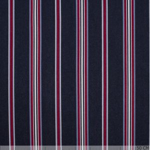 Scuba Crepe Sporty Stripe Navy/Red