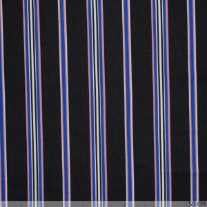 Scuba Crepe Sporty Stripe Black/Cobalt