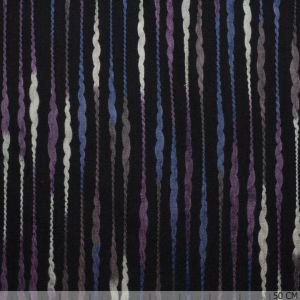Tuffted Flannel Yarn Purple Stripe