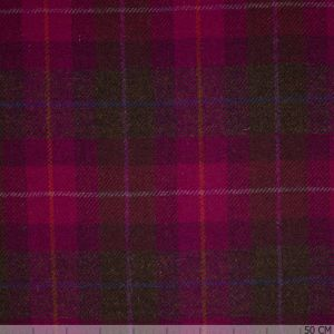 Pink tartan Harris Tweed
