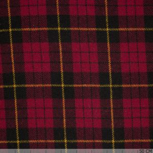 Red tartan Harris Tweed