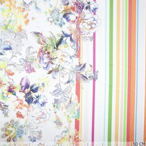 Border Satin Stretch Flower