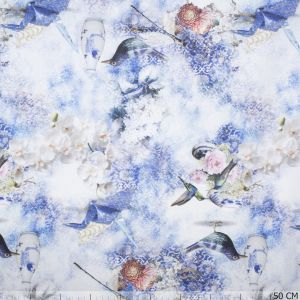 Birds and Flowers Blue