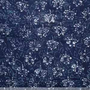 Batik Viscose Flower Blue