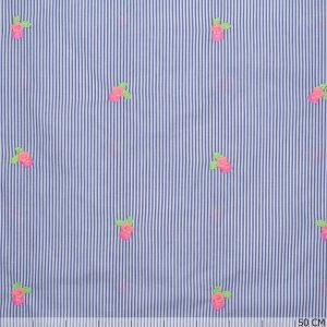 Neon Embroidery Flower and Stripes