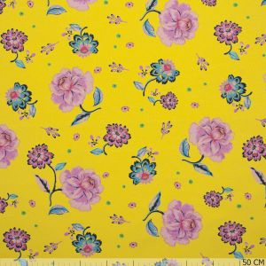 French Terry Flower Print Yellow