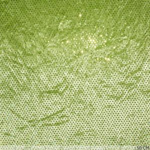Velours Panne Points Lime