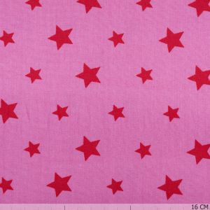 Cotton Pink Star Red
