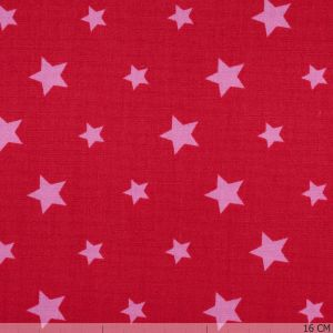 Cotton Red Star Pink