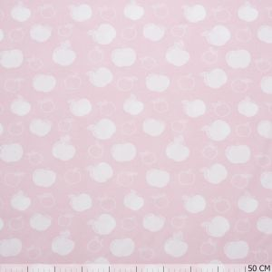 Bio Cotton Jersey Apple Pink-White