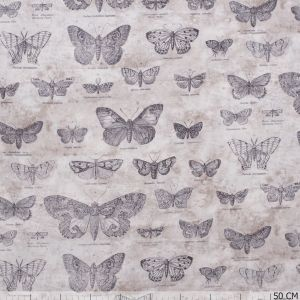 Eclectic Elements Taupe Butterflies