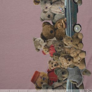 Two Side Border Teddys Dark Pink