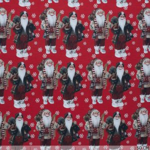 Tricot Santa All-over Red