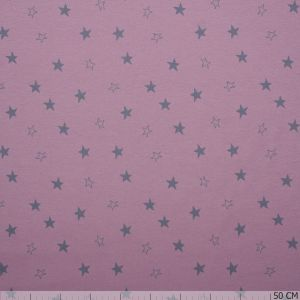 Organic Cotton Stars Old Pink