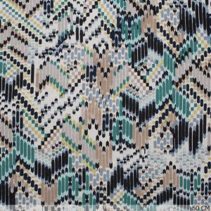 Tricot Lines in Zig-Zag Green